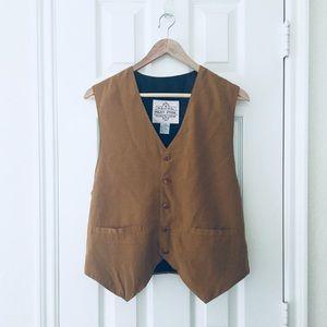 Vintage mustard colored vest